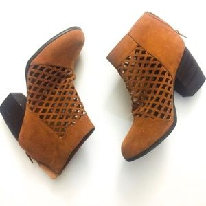 Qupid Brown Closed Toe  Booties